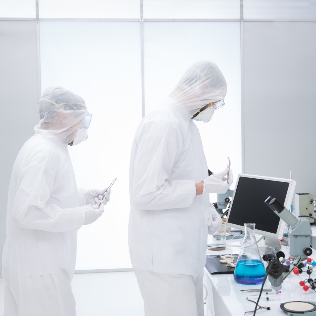 People Studying in a Chemistry Lab